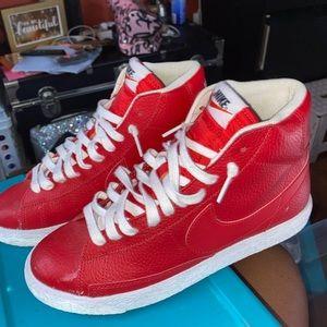Red Nike Hi Tops